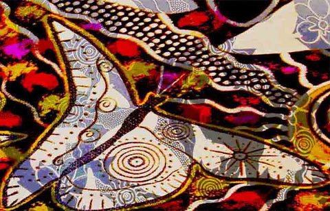 Ancestral Butterfly Silk Scarf
