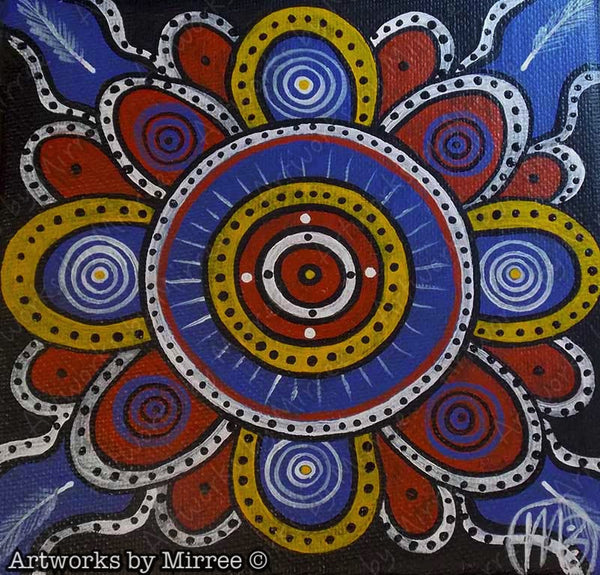 Ceremonial Ground Contemporary Aboriginal Art Original Painting by Mirree