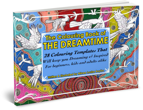 'Dreamtime Colouring Book' COLOURING BOOK by Mirree Contemporary Dreamtime Animal Series