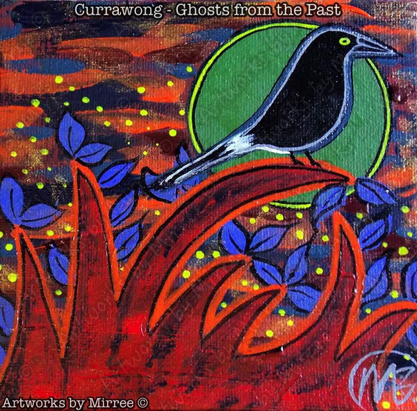 'Currawong' Memories from the Past Original Painting by Mirree Contemporary Dreamtime Animal Dreaming