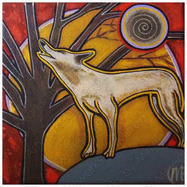 'Full Dingo Moon' COLOUR PHOTOGRAPH by Mirree Contemporary Dreamtime Animal Series