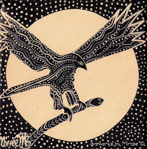 'DREAMTIME EAGLE' Original Painting by Mirree Contemporary Dreamtime Animal Dreaming