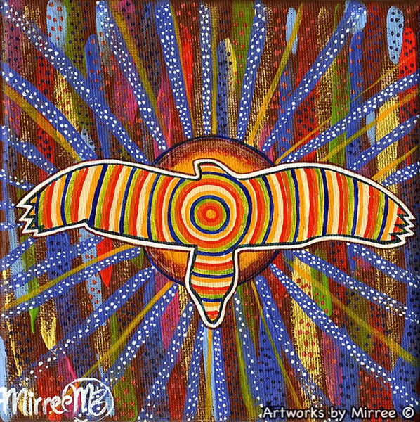 Eagle Spirit Dreaming Contemporary Aboriginal Art Original Painting by Mirree