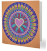 Luxury Family Love Circle Aboriginal Art Animal Dreaming Square Greeting Card Single by Mirree