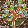 'Australian Red-Rumped Parrot in Tree' Life Changing Original Painting Series by Mirree Contemporary Dreamtime Animal Dreaming