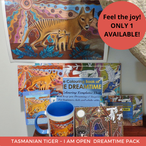 I am Open with Tasmanian Tiger Dreamtime Love Kit