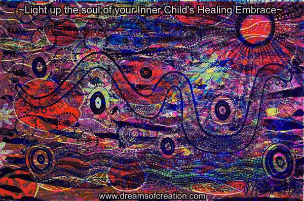 'HEALING EMBRACE' A3 Girlcee Print by Mirree Contemporary Aboriginal Art