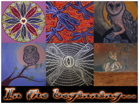 'In the Beginning' COLOUR PHOTOGRAPH by Mirree Contemporary Dreamtime Animal Series