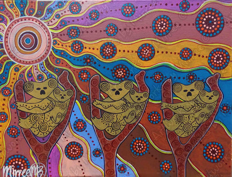 Day Time Koala Dreaming Contempoary Aboriginal Art Original Painting by Mirree