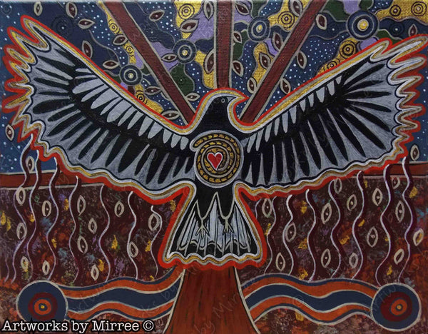 Magpie Dreaming Contempoary Aboriginal Art Original Painting by Mirree