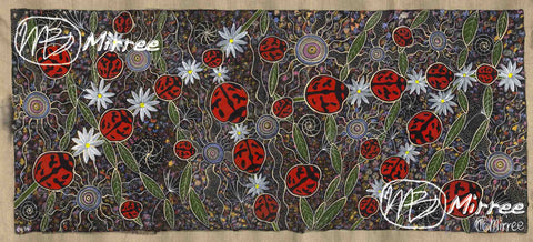 'Ancestral LADY BEETLES' ORIGINAL PAINTING by Mirree Contemporary Aboriginal Art