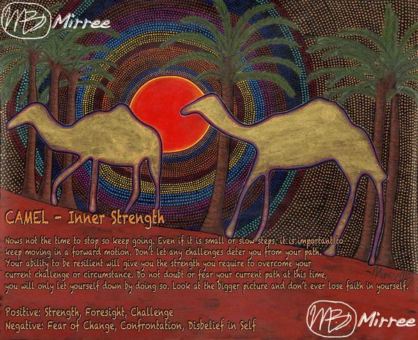 Limited Edition Camel Spirit Dreaming Giclee Aboriginal Art Print by Mirree