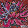 'Pink Lotus with Dragonfly' 1 Original Painting by Mirree Contemporary Dreamtime Animal Dreaming