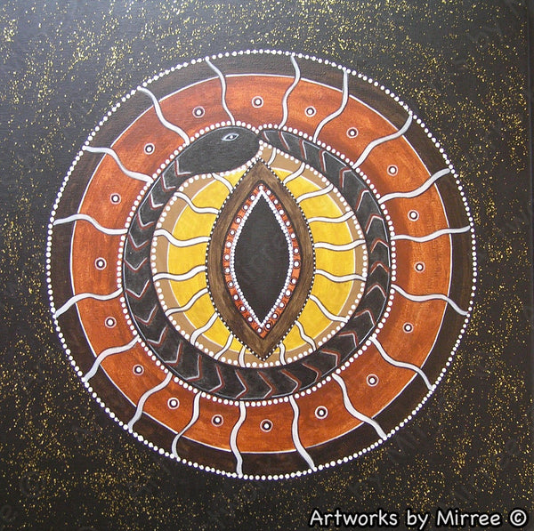 'Healing Journey' Original Painting by Mirree Contemporary Dreamtime Animal Dreaming