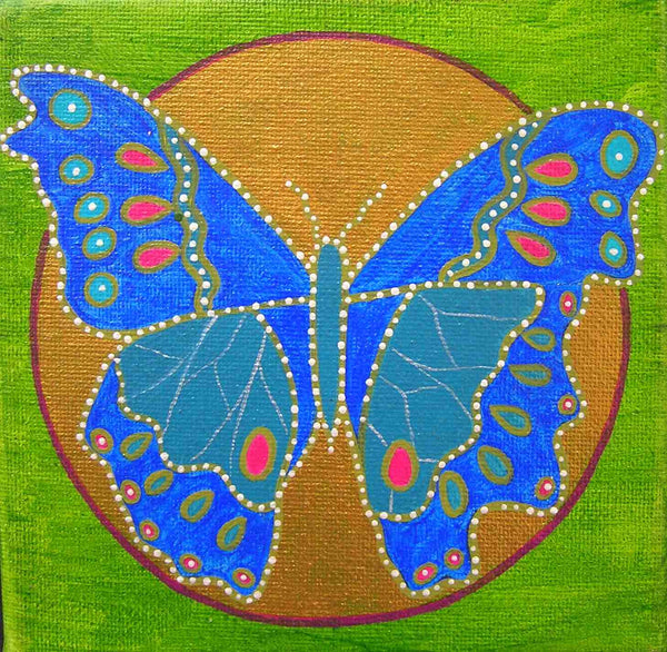 Framed Canvas Animal Dreaming Butterfly Square Print