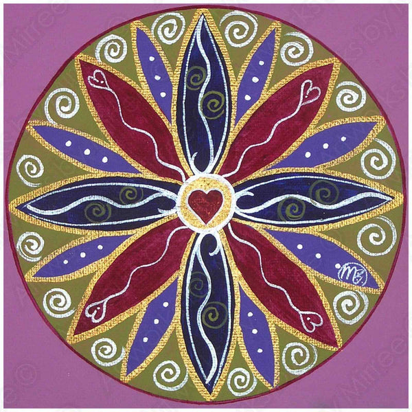 'Love Mandala Pink' COLOUR PHOTOGRAPH by Mirree Contemporary Art