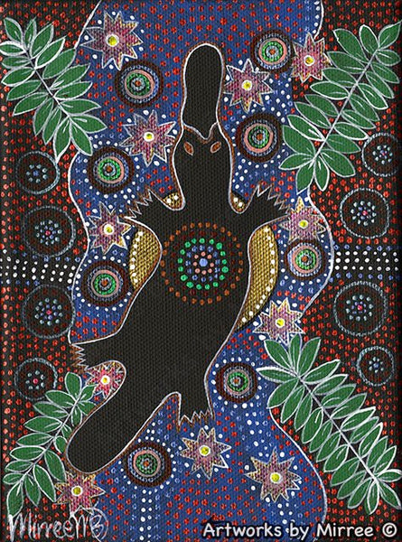 'Platypus Dreaming' Original Painting by Mirree Contemporary Dreamtime Animal Dreaming