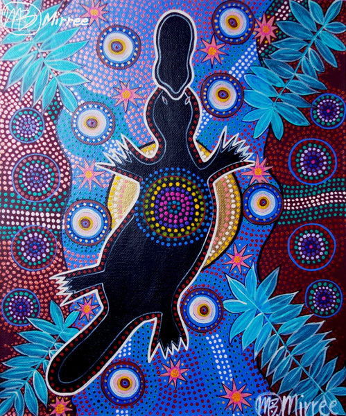 Platypus Animal Dreaming Giclee Aboriginal Art Print by Mirree