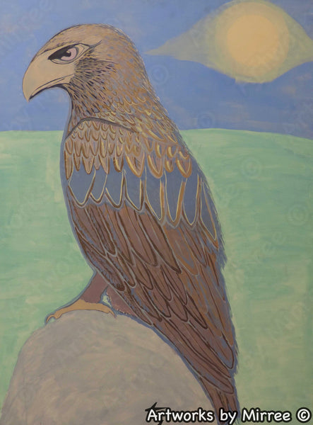 'RESTING EAGLE' Original Painting by Mirree Contemporary Dreamtime Animal Dreaming