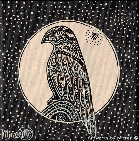 'RESTING EAGLE EYE OF THE UNIVERSE' Original Painting by Mirree Contemporary Dreamtime Animal Dreaming