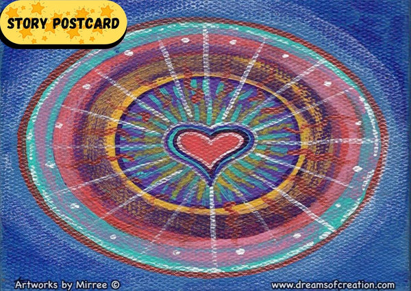 Love that Heals Aboriginal Art A6 Story PostCard Single by Mirree