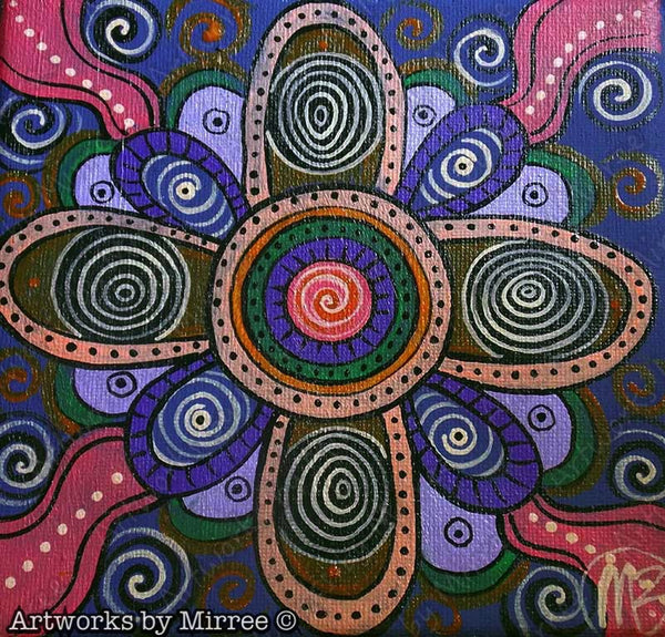 Sacred Birthing Place Contemporary Aboriginal Art Original Painting by Mirree