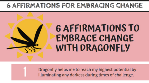 """6 Affirmations to Embrace Change with Dragonfly"" Guide with Mirree PDF"