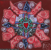 'Butterfly Transformation' Original Painting by Mirree Contemporary Sacred Geometrical Dreamtime Animal Dreaming