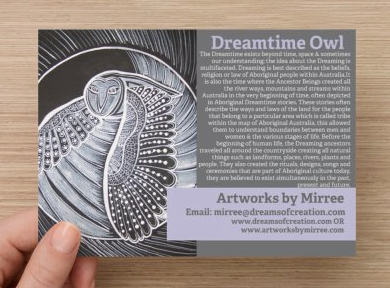 'The Dreamtime' Owl COLOUR PHOTOGRAPH by Mirree Contemporary Dreamtime Animal Series