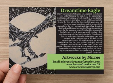 'The Dreamtime' Eagle COLOUR PHOTOGRAPH by Mirree Contemporary Dreamtime Animal Series