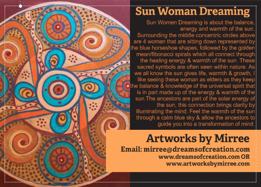 'Sun Woman Dreaming' COLOUR PHOTOGRAPH by Mirree Contemporary Dreamtime Series