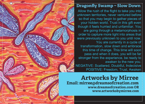 'Dragonfly Swamp' COLOUR PHOTOGRAPH by Mirree Contemporary Dreamtime Animal Series