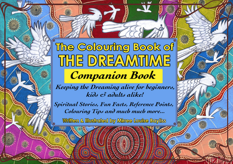 2 Books 'Dreamtime Colouring Book' COLOURING BOOK and COMPANION BOOK by Mirree Contemporary Dreamtime Animal Series