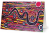 Pack of 10 Rainbow Serpent Aboriginal Art Animal Dreaming A6 Gift Cards by Mirree