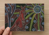 Kangaroo and Baby Universal Spirit Dreaming Aboriginal Art A6 PostCard Single by Mirree