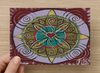 Love that Shines Universal Spirit Dreaming Aboriginal Art A6 PostCard Single by Mirree
