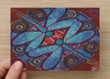 Let your Light Shine Universal Spirit Dreaming Aboriginal Art A6 PostCard Single by Mirree