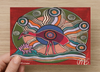 Inner Beauty Brolga Universal Spirit Dreaming Aboriginal Art A6 PostCard Single by Mirree