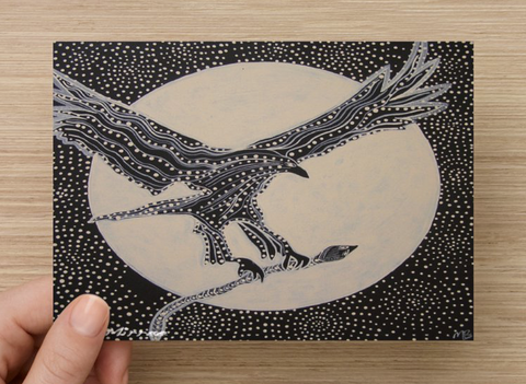 Dreamtime Eagle Universal Spirit Dreaming Aboriginal Art A6 PostCard Single by Mirree