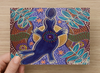 Platypus Universal Spirit Dreaming Aboriginal Art A6 PostCard Single by Mirree