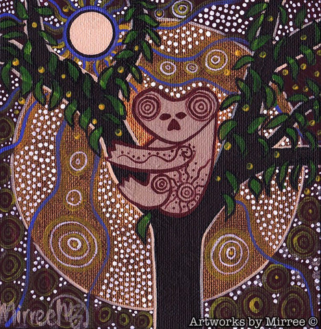 'Koala Time Out' Original Painting by Mirree Contemporary Dreamtime Animal Dreaming
