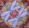 'Dragonfly Dreaming Transmutation' ORIGINAL PAINTING by Mirree Contemporary Dreamtime Series