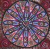 'Tribal Heart' Original Painting by Mirree Contemporary Sacred Geometrical Landscape Dreaming