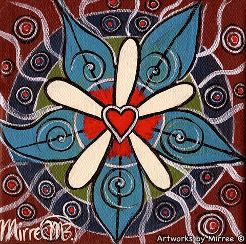 'Universal Love' Original Painting by Mirree Contemporary Dreamtime Animal Dreaming