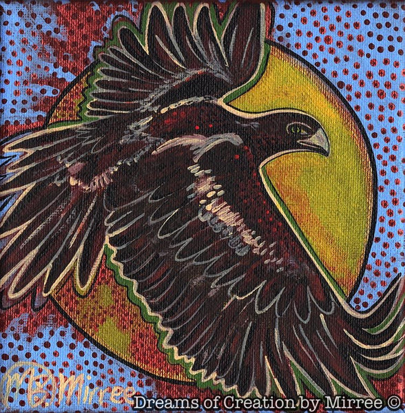 'Wedge-Tail Eagle' Original Painting by Mirree Contemporary Dreamtime Animal Dreaming