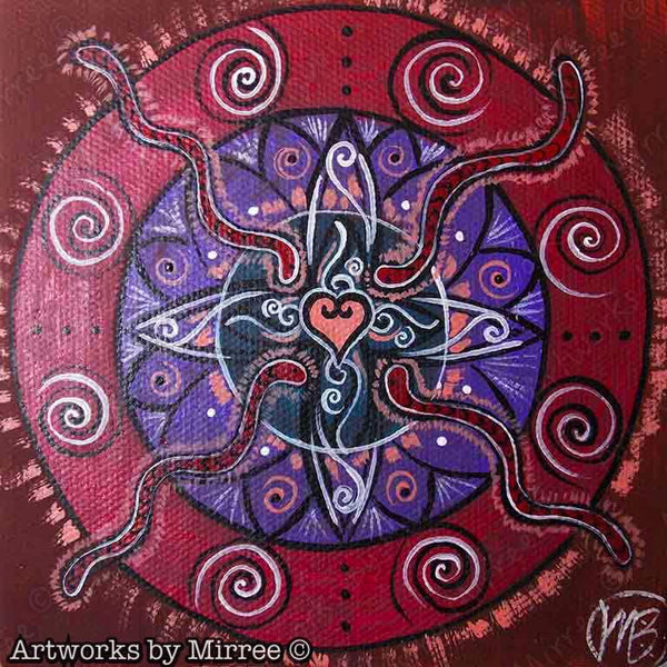 'Serpent Healing & Power' Original Painting by Mirree Contemporary Dreamtime Animal Dreaming