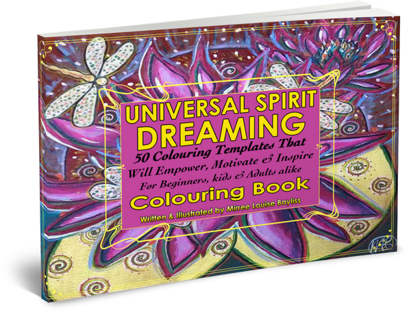 'Universal Dreaming Colouring Book' COLOURING BOOK by Mirree Contemporary Dreamtime Animal Series