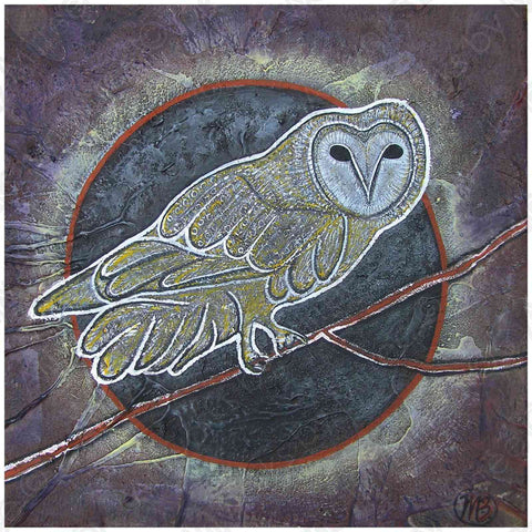 'White Owl' COLOUR PHOTOGRAPH by Mirree Contemporary Dreamtime Animal Series