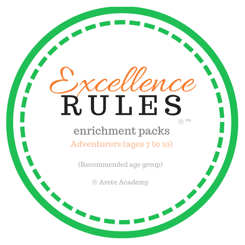 Excellence RULES enrichment pack | Adventurers | ages 7 to 10