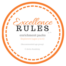 Load image into Gallery viewer, Excellence RULES enrichment pack | Explorers | ages 3 to 6